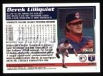 1995 Topps #189  Derek Lilliquist  Back Thumbnail