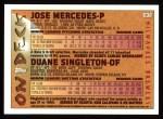1995 Topps #638  Jose Mercedes  Back Thumbnail