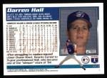 1995 Topps #174  Darren Hall  Back Thumbnail