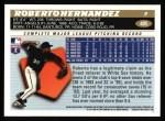 1996 Topps #405  Roberto Hernandez  Back Thumbnail