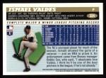 1996 Topps #324  Ismael Valdes  Back Thumbnail