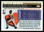 1996 Topps #376  Kevin Brown  Back Thumbnail