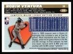 1996 Topps #310  Robin Ventura  Back Thumbnail