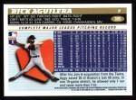 1996 Topps #305  Rick Aguilera  Back Thumbnail