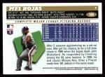 1996 Topps #186  Mel Rojas  Back Thumbnail