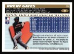 1996 Topps #31  Brent Gates  Back Thumbnail