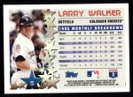 1996 Topps #5  Larry Walker  Back Thumbnail