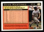 1997 Topps #197  Dave Martinez  Back Thumbnail