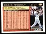 1997 Topps #333  Eddie Murray  Back Thumbnail
