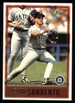 1997 Topps #423  Paul Sorrento  Front Thumbnail