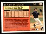 1997 Topps #168  Matt Mieske  Back Thumbnail