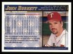 1998 Topps #401  John Burkett  Back Thumbnail