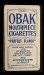 1910 T212 Obak xOLD Carl Mitze  Back Thumbnail