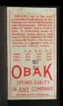 1911 T212 Obak RED Cap Dillon  Back Thumbnail