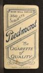 1909 T206  Gavvy Cravath  Back Thumbnail