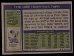 1972 Topps #228  Pete Liske  Back Thumbnail