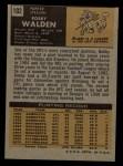 1971 Topps #102  Bobby Walden  Back Thumbnail