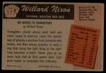 1955 Bowman #177  Willard Nixon  Back Thumbnail
