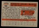 1956 Topps #65  Ken MacAfee  Back Thumbnail