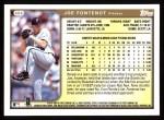 1999 Topps #404  Joe Fontenot  Back Thumbnail