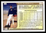 1999 Topps #141  Dave Nilsson  Back Thumbnail