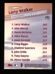 1999 Topps #221   -  Larry Walker League Leaders Back Thumbnail