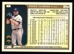 1999 Topps #1  Roger Clemens  Back Thumbnail