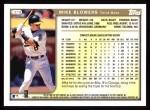 1999 Topps #279  Mike Blowers  Back Thumbnail