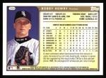 1999 Topps #364  Bobby Howry  Back Thumbnail