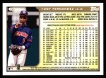 1999 Topps #196  Tony Fernandez  Back Thumbnail