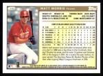 1999 Topps #263  Matt Morris  Back Thumbnail