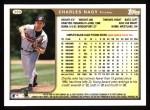 1999 Topps #389  Charles Nagy  Back Thumbnail