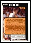 2000 Topps #217   -  David Cone  Highlights Back Thumbnail