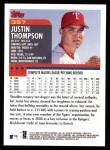 2000 Topps #357  Justin Thompson  Back Thumbnail