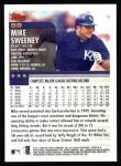2000 Topps #59  Mike Sweeney  Back Thumbnail