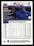 2000 Topps #137  Chad Kreuter  Back Thumbnail