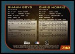 2001 Topps #740  Shaun Boyd / Chris Morris  Back Thumbnail