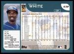 2001 Topps #632  Devon White  Back Thumbnail