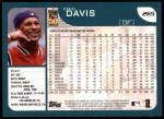 2001 Topps #265  Eric Davis  Back Thumbnail