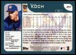 2001 Topps #217  Billy Koch  Back Thumbnail
