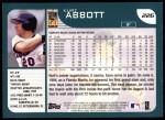 2001 Topps #226  Kurt Abbott  Back Thumbnail