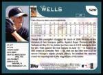 2001 Topps #520  Kip Wells  Back Thumbnail