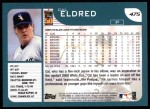 2001 Topps #475  Cal Eldred  Back Thumbnail