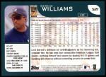 2001 Topps #521  Bernie Williams  Back Thumbnail