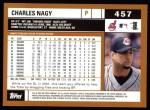 2002 Topps #457  Charles Nagy  Back Thumbnail