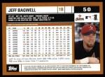 2002 Topps #50  Jeff Bagwell  Back Thumbnail