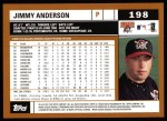 2002 Topps #198  Jimmy Anderson  Back Thumbnail