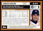 2002 Topps #444  Carlos Guillen  Back Thumbnail