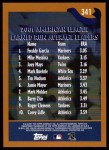2002 Topps #341   -  Garcia / Mussina / Mays League Leaders Back Thumbnail