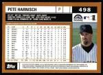 2002 Topps #498  Pete Harnisch  Back Thumbnail